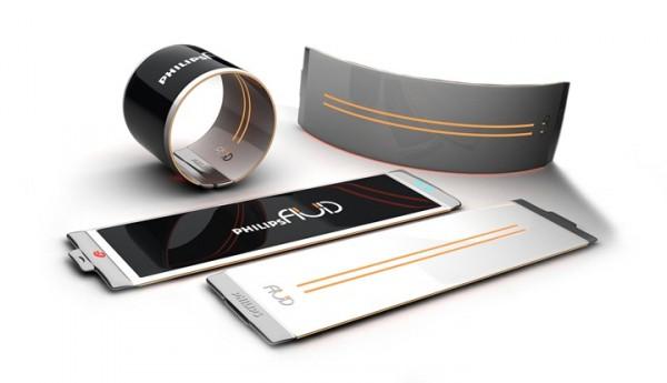 Концепт смартфона-брастлета от Philips