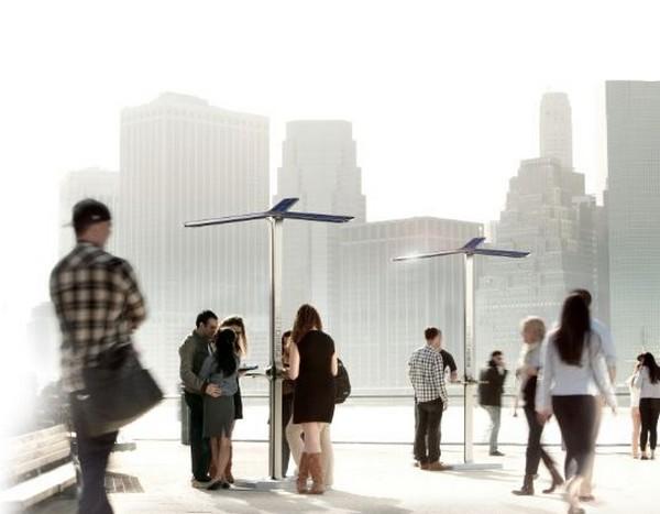 Уличные зарядки для мобильных телефонов от AT&T
