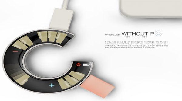 Концепт USB Drive Without PS: USB-транспортёр с сенсорным экраном