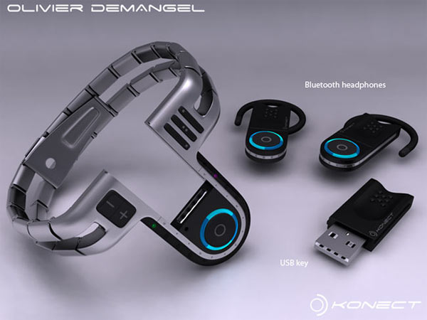 Tokyo USB Concept Watch: Bluetooth-гарнитура в комплекте