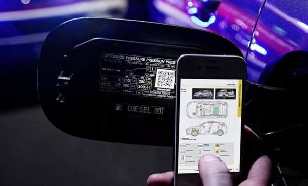 QR-наклейки на автомобилях Mercedes-Benz