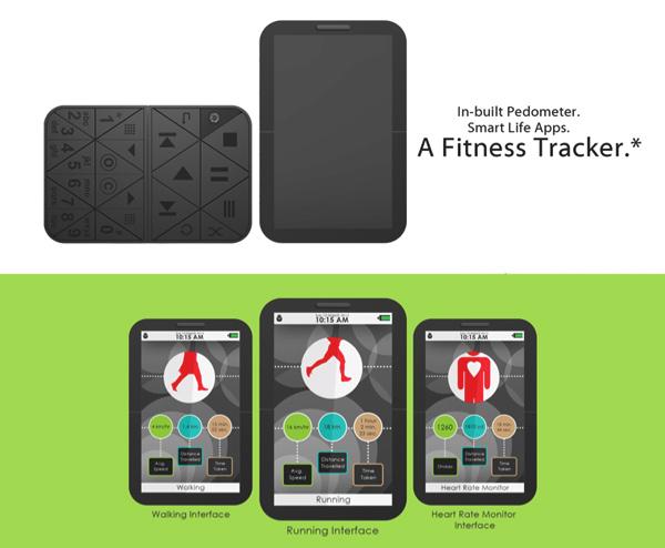 Фитнес-трекер в мобильном телефоне CELs