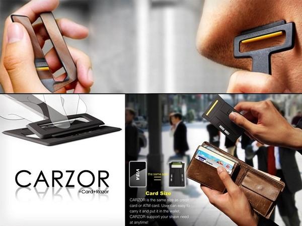 Carzor – бритва и зеркальце размером с кредитную карту