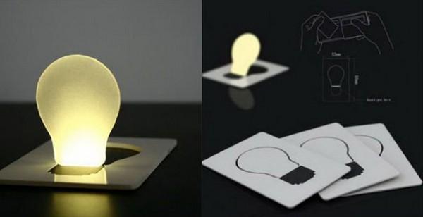 Credit Card LED Light Bulb – настольная лампа размером с кредитную карту