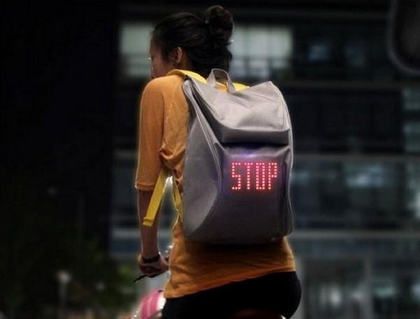 «Умный» рюкзак для безопасности велосипедистов