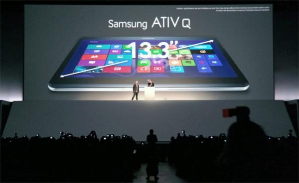 Samsung  ATIV Q: планшет с диагональю 13,3 дюймов