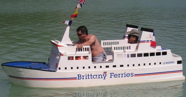 Лодка-пароход для оптимистов
