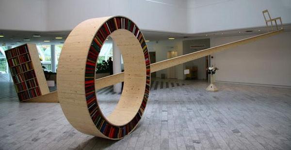 домашняя библиотека в виде циркуляра