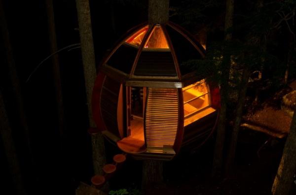 экологически чистый дом на дереве