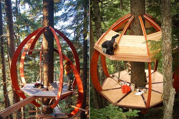 HemLoft:  экологически чистый дом на дереве