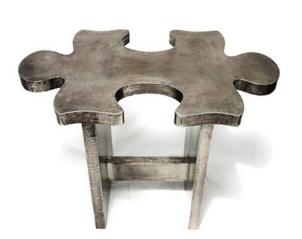 Jigsaw puzzle stool - лавка, табурет и журнальный столик