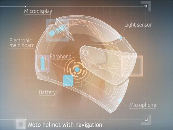 LiveMap - высокие технологии в мотоциклетном шлеме