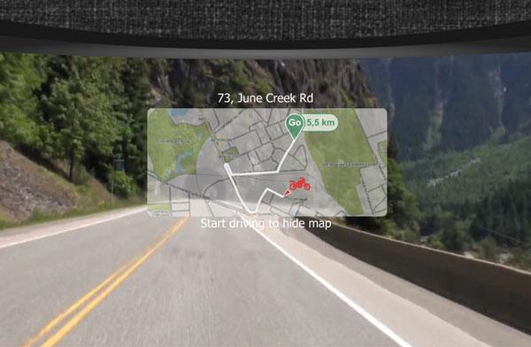 Защитное стекло LiveMap в роли дисплея навигатора