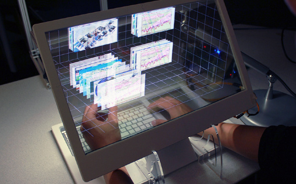 Компьютер SpaceTop 3D от Microsoft и Samsung