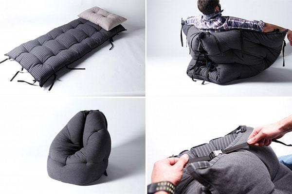 Ted Bed: кровать для спальни, диван для гостиной и кресло-пуф
