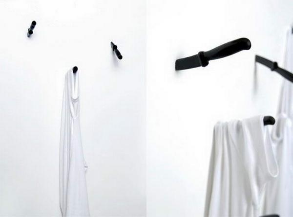 крючки для одежды в виде ножей