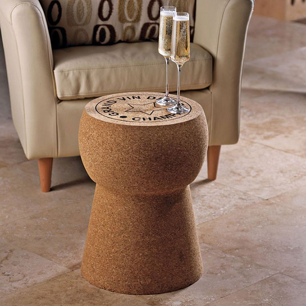 Champagne Cork Stool: