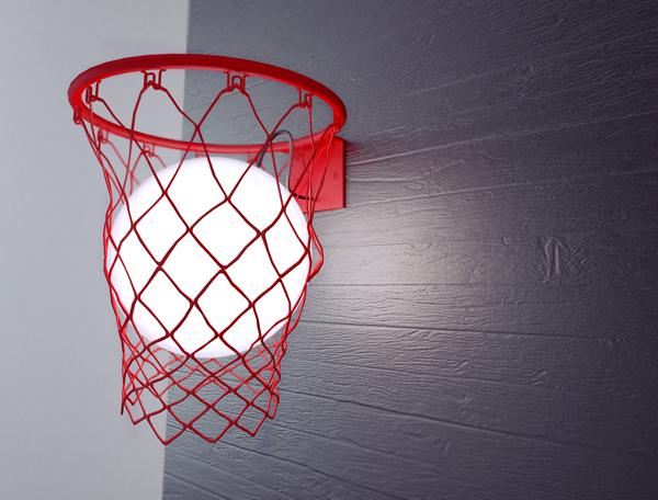 Light Ball - светильник в виде баскетбольной корзины