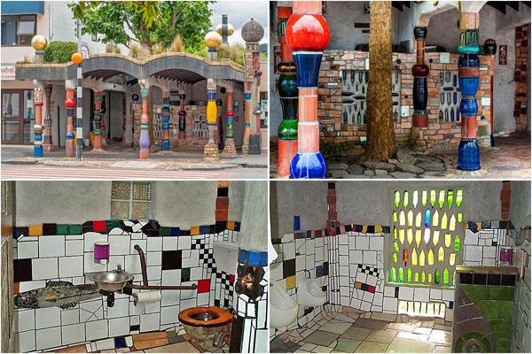Разноцветный туалет от австрийского художника