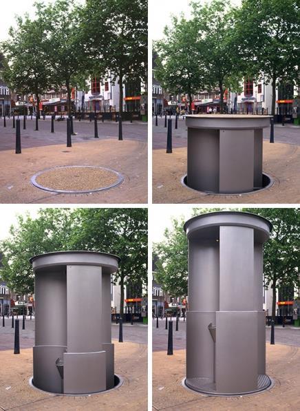 Прячущийся туалет на улицах Лондона