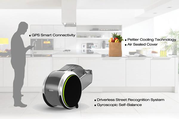 Робот AMMI, который ходит за покупками
