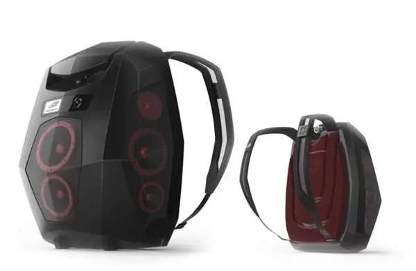 Boompack - концепт ультрасовременного аудиомагнитофона-рюкзака
