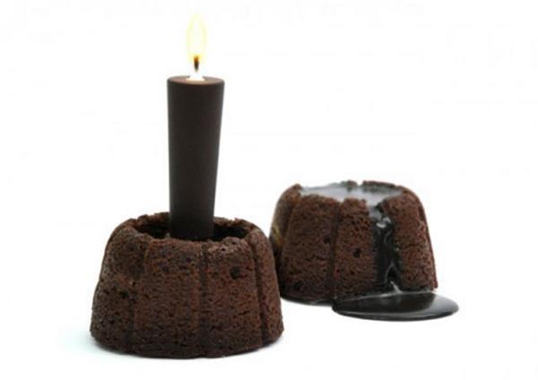 свеча в форме маффинов
