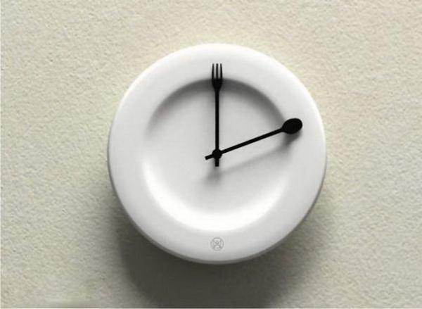 часы в тарелке