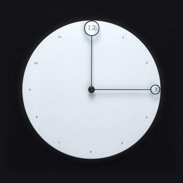 часы с увеличительными стеклами на стрелках