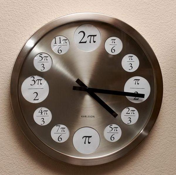 математические часы с формулами