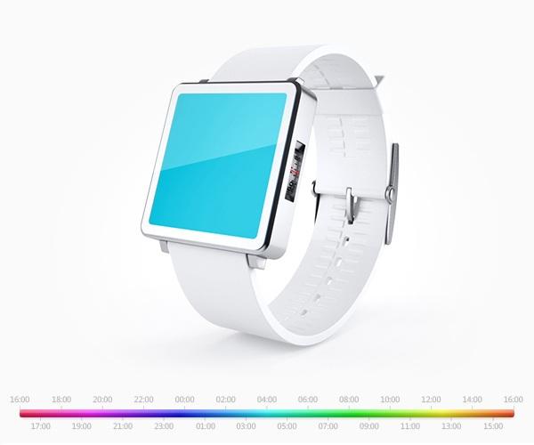 Часы информируют владельца о времени при помощи цветового спектра
