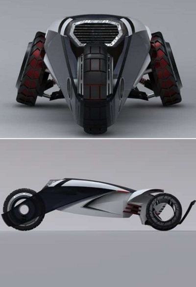 Концептуальный автомобиль RAPPA - футуристическая патрульная машина от Daniel Bailey
