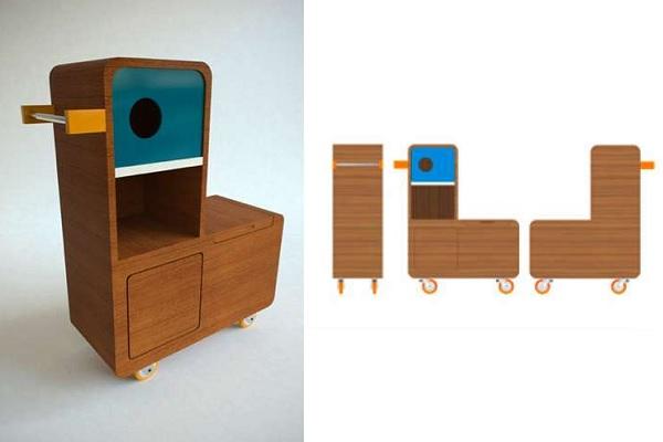 Детский шкаф-'утка' Quackie от E-Glue