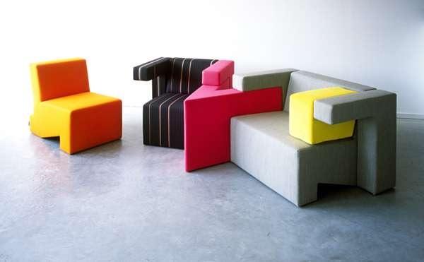 Модульная мягкая мебель в стиле 'тетрис' от Studio Lawrence