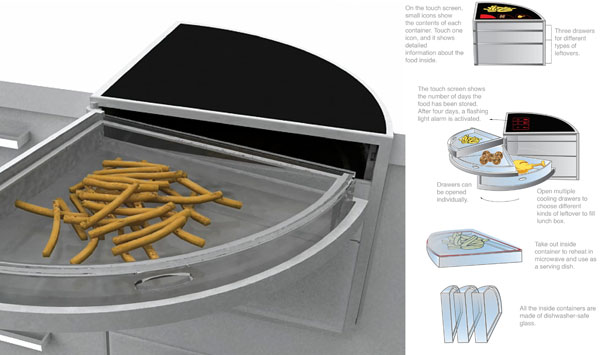 Модуль для хранения полуфабрикатов и остатков еды