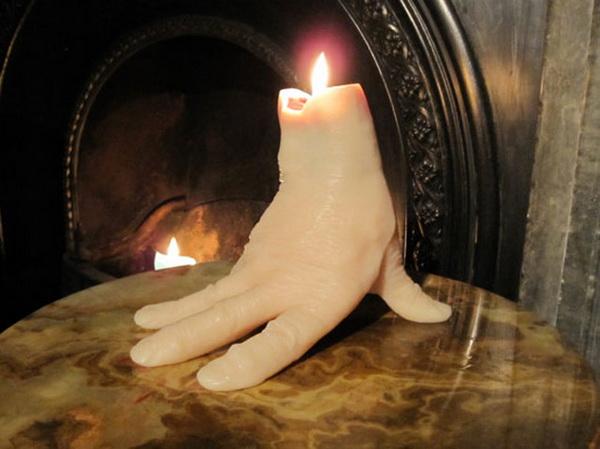 свечи в форме рук