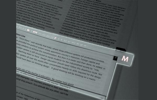 Закладка MARK подсвечивает книгу в темноте
