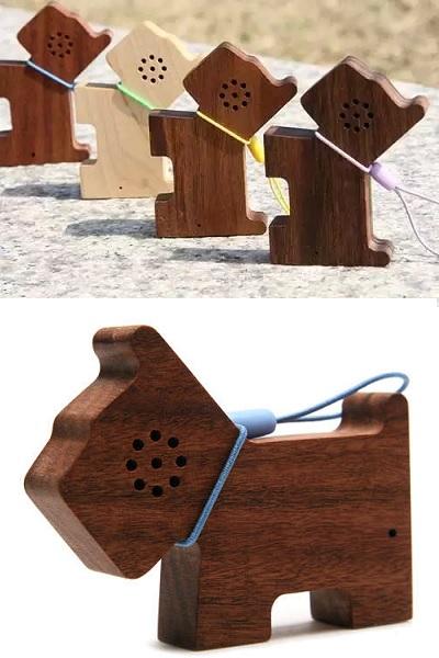 Портативная колонка Motz Dog Wooden Speaker от Motz Korea