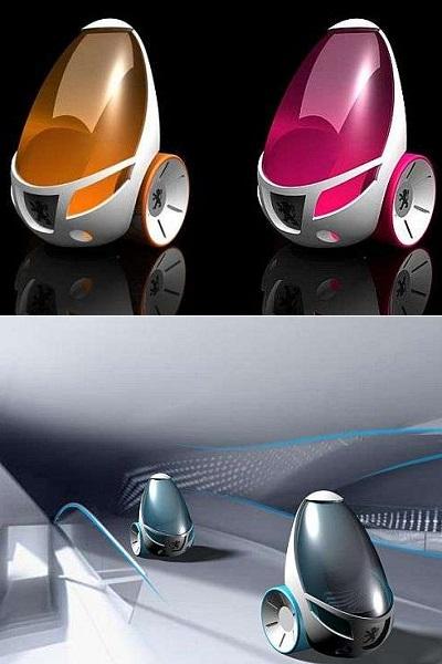 Двухколесный Peugeotот - концептуальный городской автомобиль от Daniel Scotland