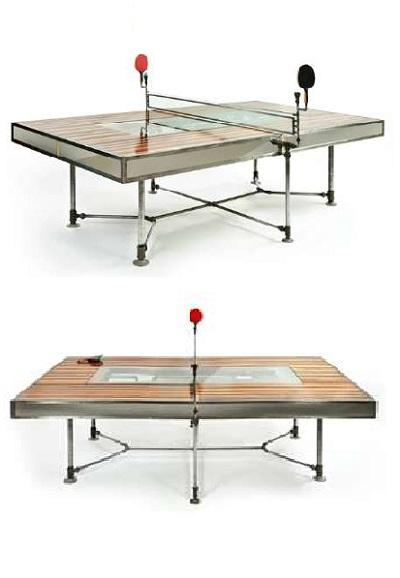 Punctuated Equilibrium от Akke Functional Art - стол для семейных трапез и игры в пинг-понг