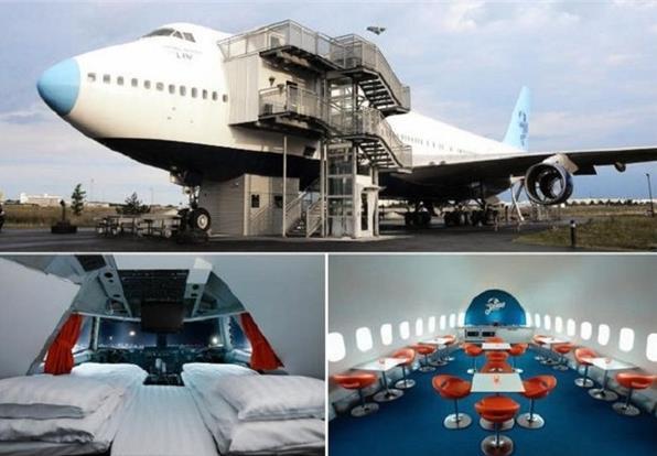 В ожидании следующего рейса можно и подремать а самолёте-отеле