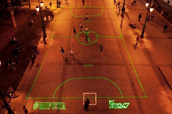 Лазерная футбольная площадка от NIKE