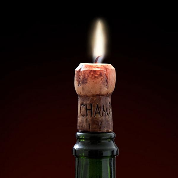 Пробка от шампанского в форме свечи