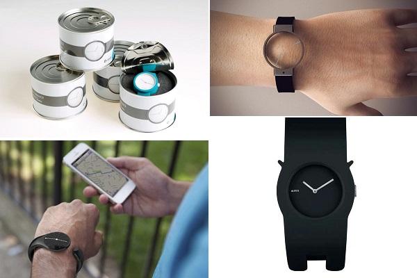 Примеры минималистичного дизайна дизайнерских часов-'головоломок'
