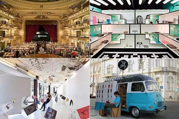 Примеры креативного оформления книжных магазинов