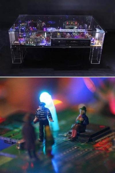 Electri-City Table - высокотехнологичный столик в стиле TRON от Benjamin Yates