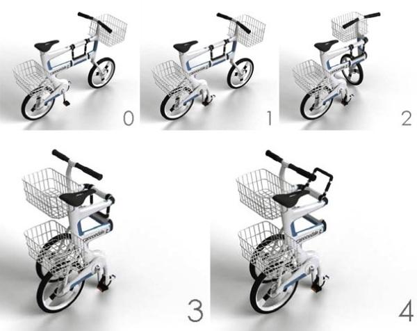 Ville трансформируется в коляску для шоппинга всего несколькими нехитрыми движениями