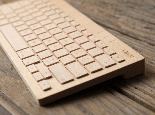 беспроводная деревянная клавиатура