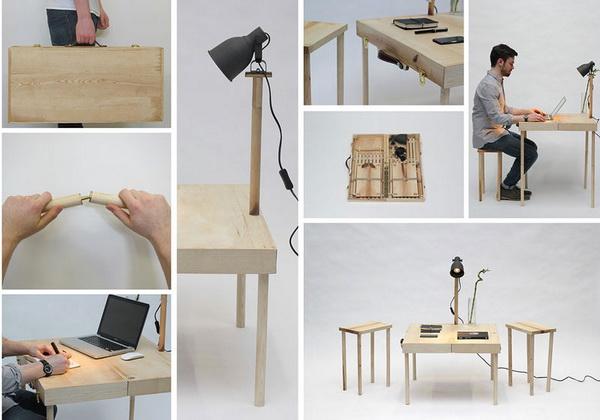 Стол, стул и лампа: BOXED
