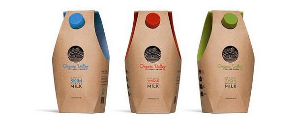 необычная упаковка молока